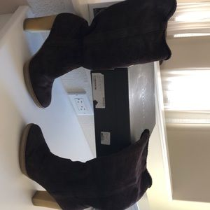 Gucci logo Merinos shearling cocoa boots size 8.5
